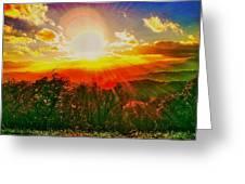 Heavenly Light. North Carolina Blue Ridge Greeting Card