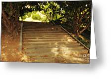 Heavenly Stairway Greeting Card by Madeline Ellis