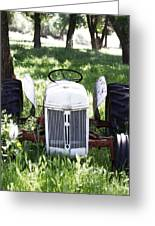 Heavenly Tractor Greeting Card