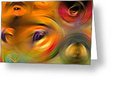 Heaven's Eyes - Abstract Art By Sharon Cummings Greeting Card