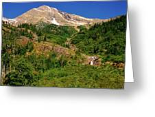 Heavens Peak Glacier International Peace Park Greeting Card