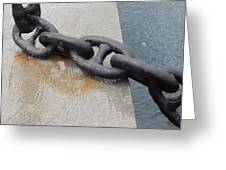 Heavy Duty Anchor Chain Greeting Card