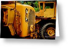Heavy Equipment Greeting Card