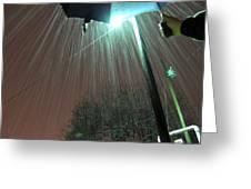 Heavy Evening Snow Greeting Card