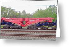 Heavy Lift 1m Pound Capacity Schnabel Railcar By Emmert International Greeting Card