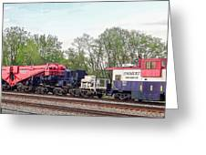 Heavy Lift 1m Pound Capacity Schnabel Train Set By Emmert International Greeting Card