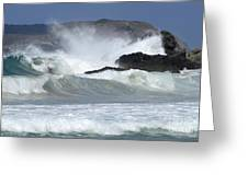 Heavy Surf Action Fernando De Noronha Brazil 1 Greeting Card