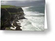Heavy Surf On The Irish Coast Greeting Card