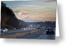 Heavy Traffic Stalls Interstate 5 Greeting Card