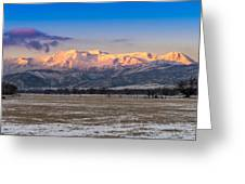 Heber Valley Sunrise Greeting Card