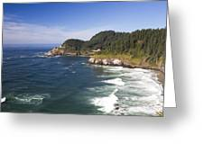 Heceta Head Lighthouse 2 A Greeting Card
