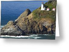 Heceta Head Lighthouse 2 F Greeting Card