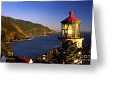 Heceta Head Moonrise Greeting Card