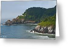 Heceta Head Overlooking The Pacific Ocean Greeting Card