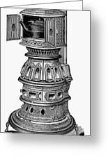 Hecla Oven Stove, 1875 Greeting Card