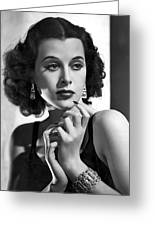 Hedy Lamarr - Beauty And Brains Greeting Card