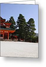 Heian Temple Square I Greeting Card