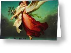 Heiliger Schutzengel  Guardian Angel 10 Pastel Greeting Card