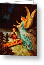 Heiliger Schutzengel  Guardian Angel 11 Oil Greeting Card