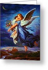 Heiliger Schutzengel  Guardian Angel 7 Oil Greeting Card