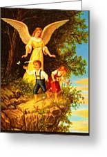 Heiliger Schutzengel Guardian Angel 8 Oil Greeting Card