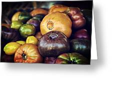 Heirloom Tomatoes At The Farmers Market Greeting Card by Scott Norris
