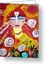 Helianna - Angel Of Divine Serenity Greeting Card