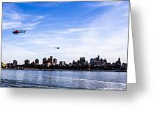 Helicopter Tour Of Nyc Greeting Card