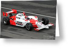 Helio Castroneves Indy Greeting Card