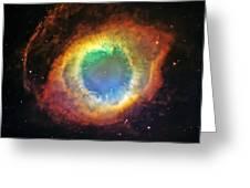 Helix Nebula 2 Greeting Card by Jennifer Rondinelli Reilly - Fine Art Photography