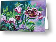 Hellebore Flowers Greeting Card