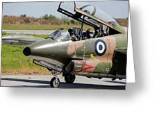 Hellenic Air Force Pilots Sitting Greeting Card