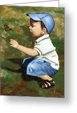 Hello Butterfly Greeting Card