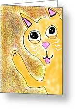 Hello Little Kitty Greeting Card
