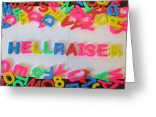 Hellraiser - Magnetic Letters Greeting Card
