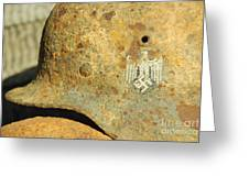 Steel Helmet Greeting Card