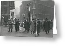 �help Hungary� Parade In Streets Of London Greeting Card