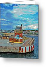 Helsingborg Lighthouse Hdr Greeting Card