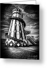 Helter Skelter Mono Greeting Card