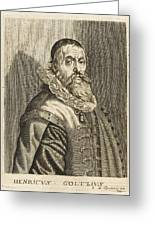 Hendrik Goltzius  Dutch Engraver Greeting Card