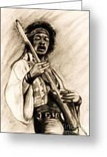 Hendrix-antique Tint Version Greeting Card