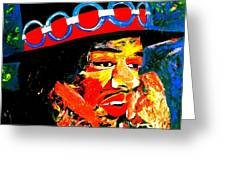 Hendrix Rocks Greeting Card