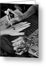 Henna Artist At Play Greeting Card