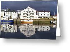 Henningsvaer Panoramic View Greeting Card