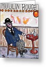 Henri Always Enjoys His Evenings. Greeting Card