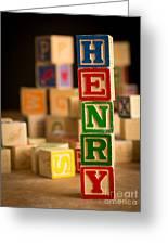 Henry - Alphabet Blocks Greeting Card