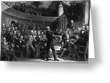 Henry Clay Speaking In The Senate Greeting Card