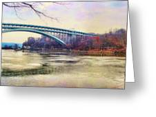 Henry Hudson Bridge And The Palisades Greeting Card