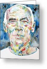 Henry Miller Portrait.1 Greeting Card