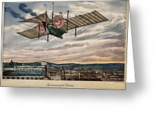 Henson's Aerial Steam Carriage 1843 Greeting Card